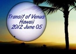 Venus after 2nd contact, 2012 June 05 against an image of Waikoloa Beach
